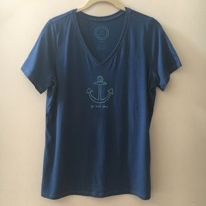 Life Is Good Classic Fit Go & Sea Anchor T-Shirt